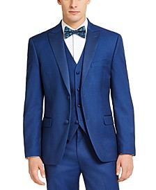 Men's Slim-Fit Stretch Blue Tuxedo Jacket, Created for Macy's
