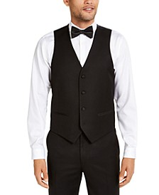 Men's Classic-Fit Stretch Black Tuxedo Vest, Created for Macy's