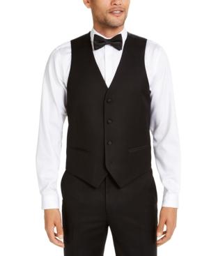 Men's Classic-Fit Stretch Black Tuxedo Vest