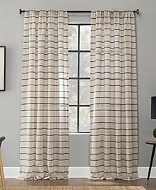 """Twill Stripe Anti-Dust Curtain Panel, 52"""" x 63"""""""