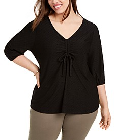 Plus Size Blouson-Sleeve Top