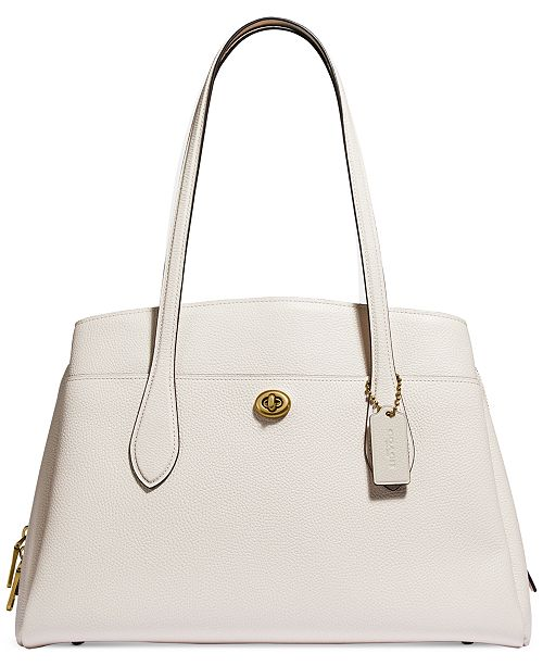 COACH Polished Pebble Leather Lora Carryall
