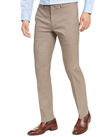 Men's Slim-Fit Stretch Herringbone Dress Pants