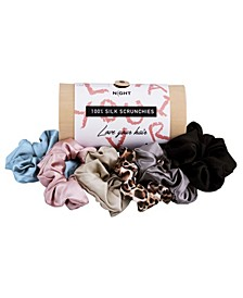 Mulberry Silk Scrunchies, Pack of 6
