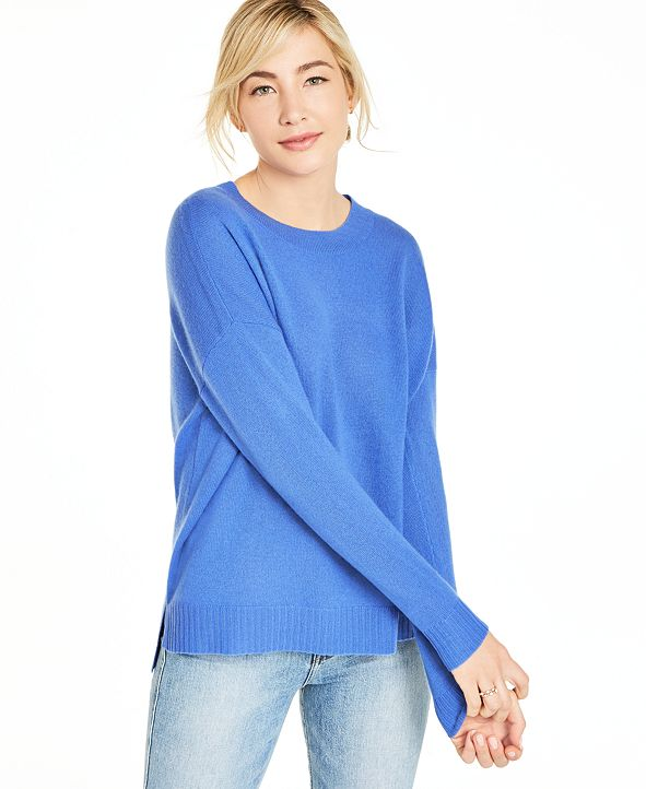 Charter Club Cashmere Oversized Crew-Neck Sweater, Created for Macy's