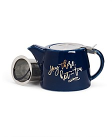 Harper Hey There, Hot-Tea Ceramic Teapot and Infuser