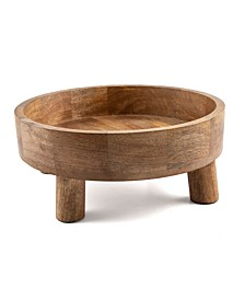 Modern Global Wood Footed Bowl