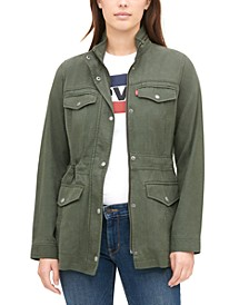 Mock-Neck Utility Jacket