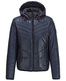 BOSS Men's Opalm Hooded Down Jacket