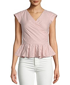 Surplice Peplum Top
