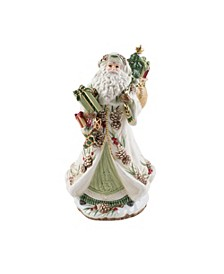 Forest Frost Santa Musical Figurine