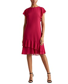 Georgette Boatneck Dress