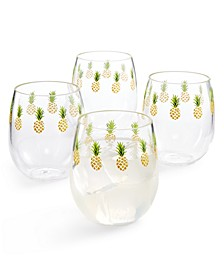 So-Cal Stemless Wine Glasses, Set of 4, Created for Macy's