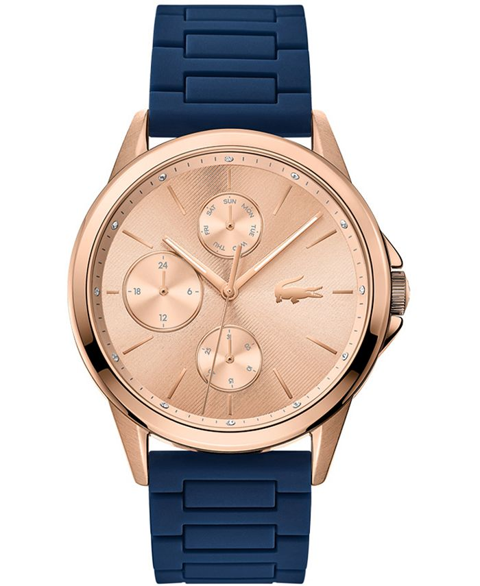 Lacoste - Women's Swiss Florence Blue Silicone Strap Watch 40mm