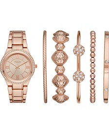 Women's Rose Gold-Tone Bracelet Watch 37mm Gift Set
