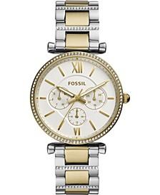 Women's Carlie Two-Tone Pavé Stainless Steel Bracelet Watch 38mm