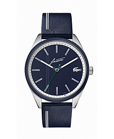 Men's Heritage Blue Leather Strap Watch 42mm