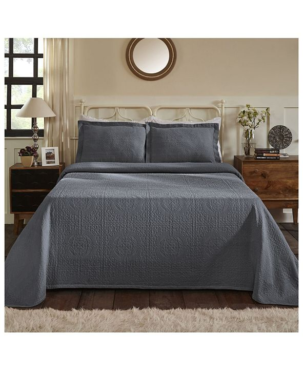 Superior Medallion Jacquard Matelasse 3 Piece Bedspread Set, Full