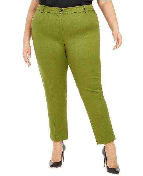 Michael Kors Plus Size Miranda Straight-Leg Pants