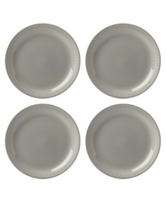 Profile Dinner Plate Set/4 Grey