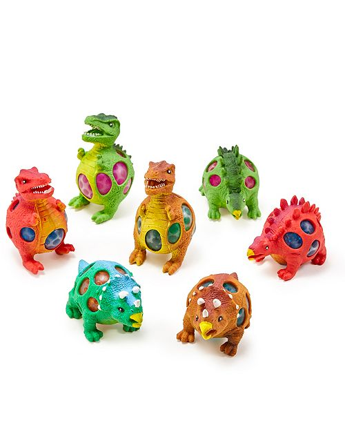 Two's Company Flash-a-saurus 36 Pc Light Up Soft Beads Squeeze Dinosaur Ball