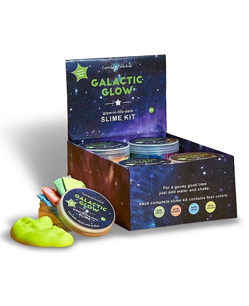 Two's Company Galactic Glow 24 Pc Make Your Own Glow-in-the-Dark Slime Kit