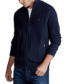 Men's Cotton Full-Zip Sweater