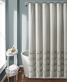 "Vintage Stripe Yarn Dyed Cotton 72"" x 72"" Shower Curtain"