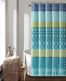 "Bohemian Stripe 72"" x 72"" Shower Curtain"
