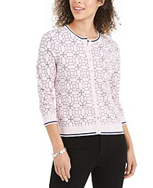 Tipped Geo-Patterned Cardigan Sweater, Created for Macy's