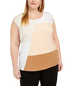Plus Size Colorblocked Top