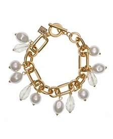 Toggle Bracelet with Pearls
