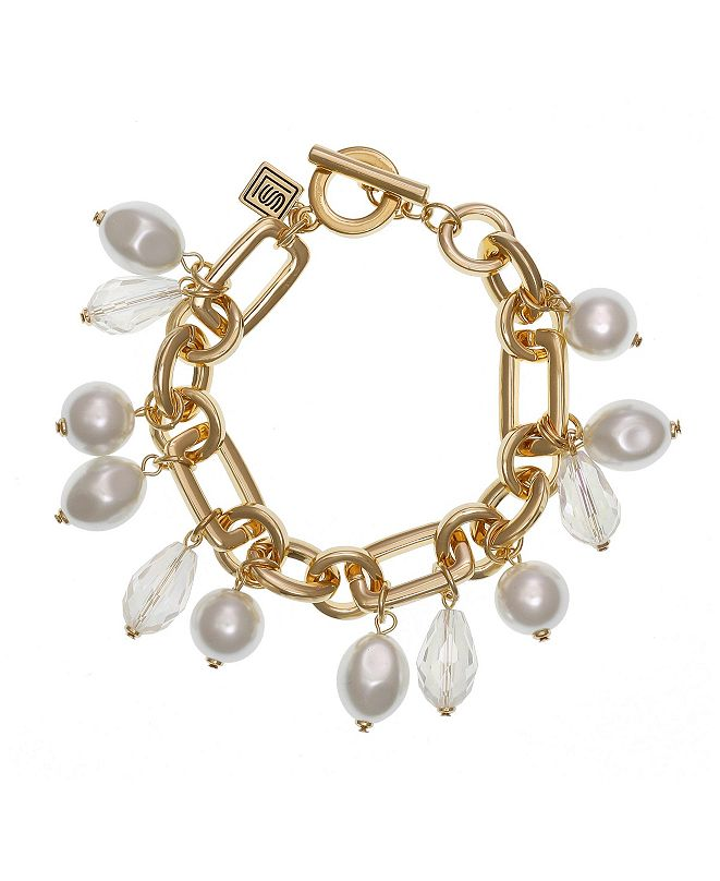 Laundry by Shelli Segal Toggle Bracelet with Pearls