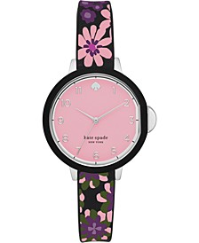 Women's Park Row Multicolored Silicone Strap Watch 34mm