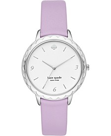 Women's Morningside Lilac Leather Strap Watch 34mm