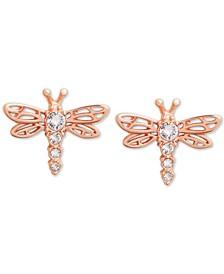 Crystal Dragonfly Stud Earrings