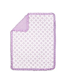 Lilac Kisses Baby Girl Blanket