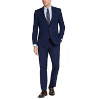 Deals on Van Heusen Mens Slim-Fit Stretch Bright Navy Blue Solid Suit