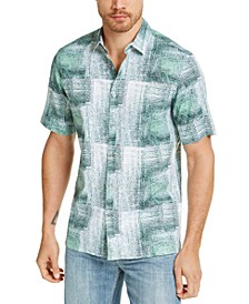 Men's Refraction Graphic Linen Shirt, Created for Macy's