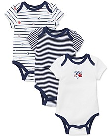 Baby Boys 3-Pk. Cotton Sports Star Bodysuits