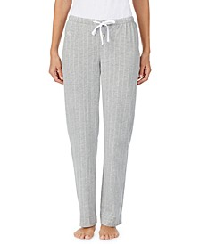 Striped Jersey Knit Pajama Pants