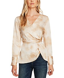 Vapor Whisper Side-Twist Blouse
