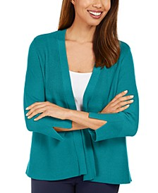 Mixed-Ribbed Split-Sleeve Cardigan, Created for Macy's