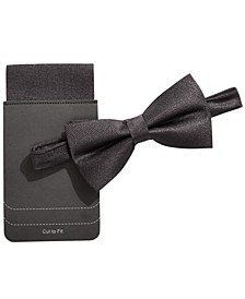 Men's Shimmer Bow Tie & Pocket Square