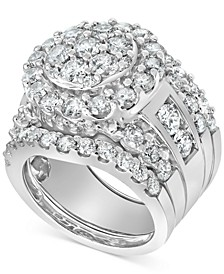 Diamond 3-Pc. Bridal Set (5 ct. t.w.) in 14k White Gold