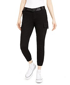 Juniors' Seat-Belt Cargo Jogger Pants