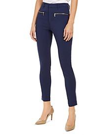 Zippered-Pocket Cropped Pants, Regular & Petite
