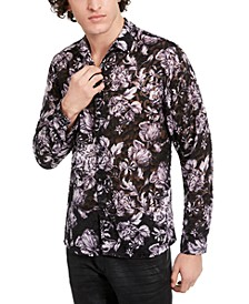 INC Men's Clip Jacquard Floral Shirt, Created for Macy's