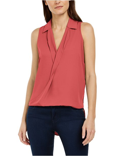 INC International Concepts INC High-Low Surplice Top, Created for Macy's