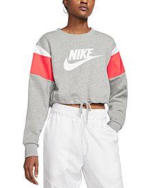 Nike Women's Sportswear Colorblocked Logo Cropped Sweatshirt
